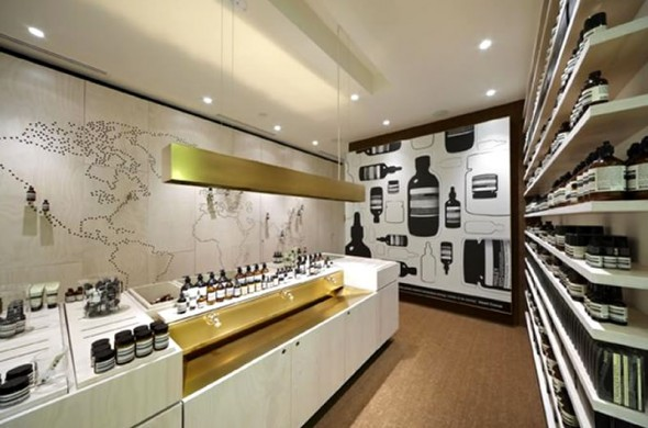 Contemporary retail store interior design aesop australia for Retail store interior design