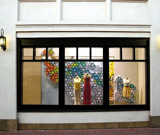 Window displays international visual for Anthropologie store decoration ideas
