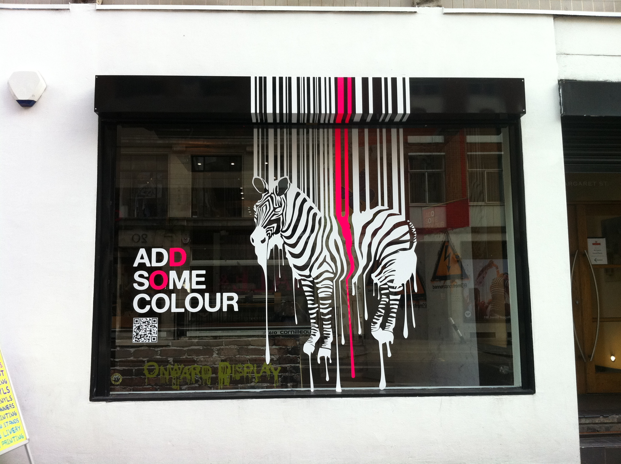 Window graphics international visual for Window vinyl design