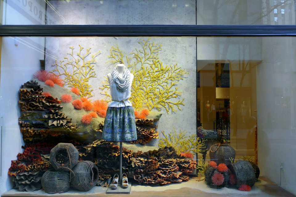 Anthropologie earth day windows international visual for Anthropologie store decoration ideas