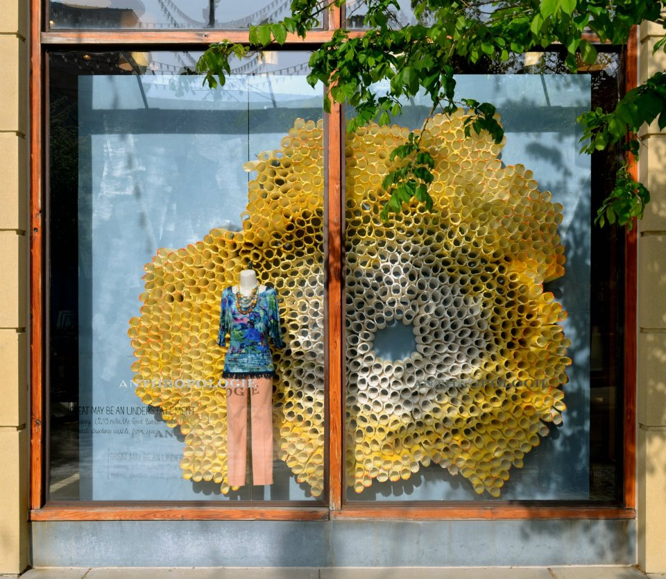anthropologie earth day windows international visual. Black Bedroom Furniture Sets. Home Design Ideas