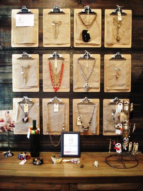 creative picture display ideas - Jewellery display Ideas