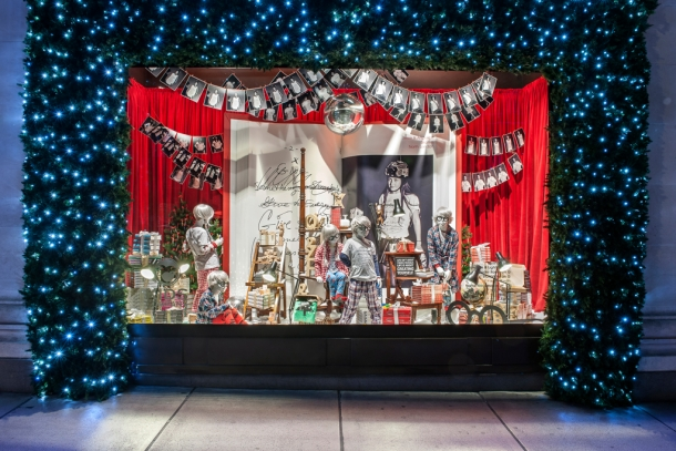 Selfridges london christmas window