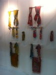 Simple display for scarves.
