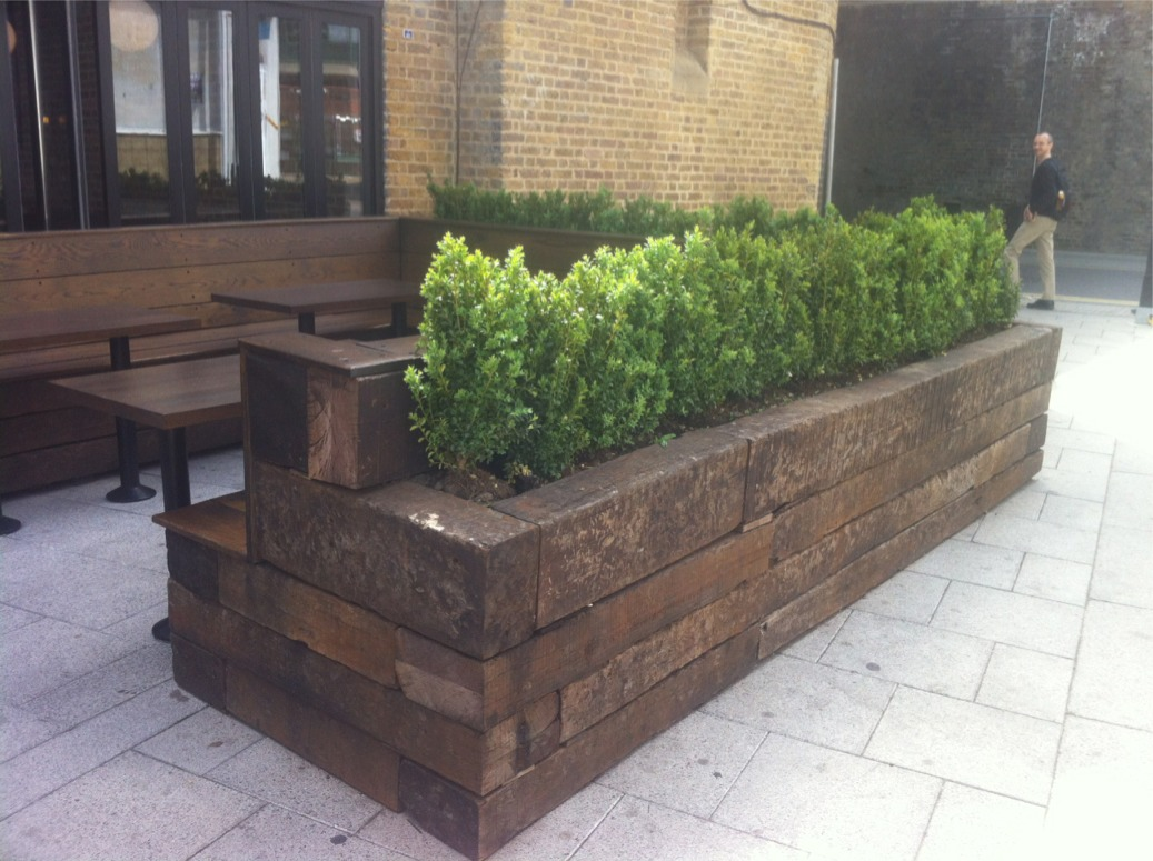 Railing Planters Ikea Exterior Seating And Planting Idea International Visual