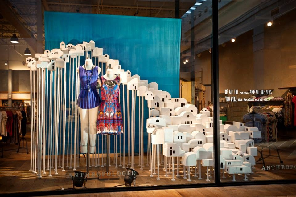 Anthropologie usa summer windows 2013 international visual for Anthropologie store decoration ideas