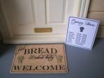 BAKERY SHOP WELCOME DOORMAT & OPENING HOURS SIGN