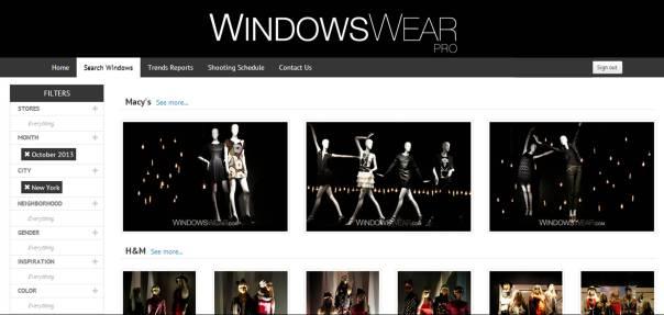 WindowsWear PRO Search Interface